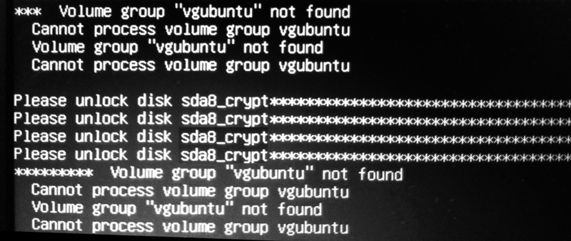vgubuntu not found